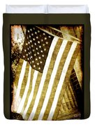 Old Glory Sepia Rustic Duvet Cover