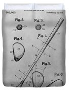 Old Golf Club Patent Illustration Duvet Cover