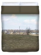 Old Gray Shed On The Hill Duvet Cover