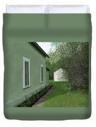 Old Green House Duvet Cover