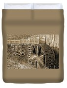 Old Grist Mill Photo Duvet Cover