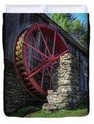 Old Grist Mill Vermont Duvet Cover