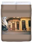 Life In Old Havana Duvet Cover