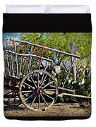 Old Hay Wagon Duvet Cover