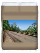 Old Highway And Forest Duvet Cover