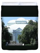 Old Historical Building At Botanical Gardens Of New York Duvet Cover