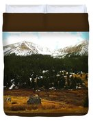 Old Homestead In The Colorado Mountains Duvet Cover