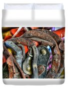 Old Horse Shoes Duvet Cover