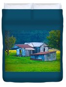 Old House And Harvest Time 2 Duvet Cover