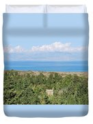 Old House By The Beach Duvet Cover