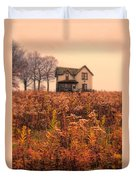 Old House In Weeds Duvet Cover