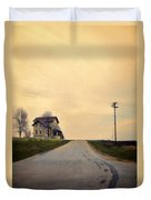 Old House On Country Road Duvet Cover