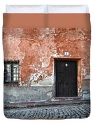 Old House Over Cobbled Ground Duvet Cover by RicardMN Photography