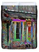 Old House Pop Art Duvet Cover