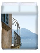 Old House With Lake View Duvet Cover