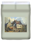 Old Houses And St Olaves Church Duvet Cover