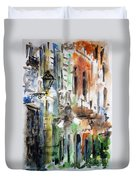 Old Houses Of San Juan Duvet Cover