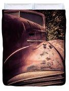 Old Hudson Car Duvet Cover by Edward Fielding