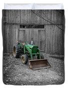 Old Tractor By The Barn Etna New Hampshire Duvet Cover