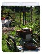 Vintage Lawn Mower Duvet Cover