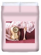 Old Lace And Time Duvet Cover