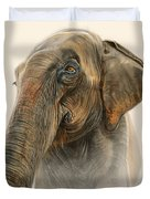 Old Lady Of Nepal 2 Duvet Cover