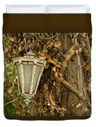 Old Lamp Hanging On Tree  Duvet Cover