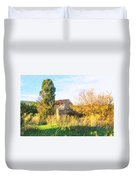 Old Little Stones House In Provence Duvet Cover