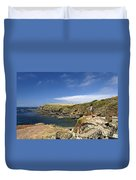 Old Lizard Head And Polpeor Cove Duvet Cover