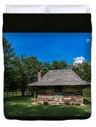 Old Log Cabin Three Duvet Cover
