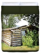 Old Log Homestead IIi Duvet Cover