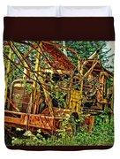 Old Logger-hdr Duvet Cover