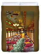Old Lounge Car From Early Railroading Days Duvet Cover