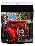 Old Mack Firetruck Duvet Cover