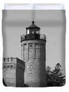 Old Mackinac Point Lighthouse Duvet Cover