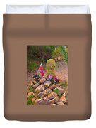 Old Man Clanton At Boot Hill Duvet Cover