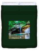 Old Mans Cave Lower Falls Duvet Cover