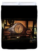 Old Mantelpiece Clock Duvet Cover by Kaye Menner
