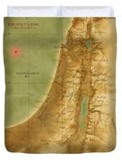 Old Map Of The Holy Land Duvet Cover