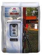 Old Marathon Gas Pump Duvet Cover