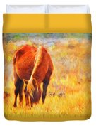 Old Mare Duvet Cover