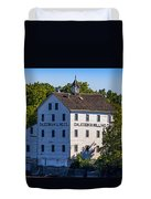 Old Mill In Caledonia Ontario Duvet Cover