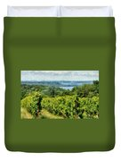 Old Mission Peninsula Vineyard Duvet Cover