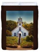 Old Mission Point Light House 02 Duvet Cover