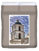 Old Mission San Luis Rey Tower - California Duvet Cover