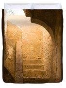 San Antonio Texas Concepcion Mission Stairs Duvet Cover