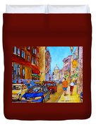 Old Montreal Duvet Cover
