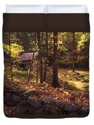 Old Mountain Shed Duvet Cover by Paul W Faust -  Impressions of Light