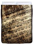 Old Music Duvet Cover