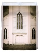 Old New England Gothic Church Duvet Cover